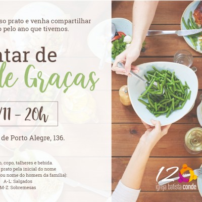 flyer acao de gracas